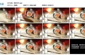 高清实拍视频丨日式料理-摆放寿司