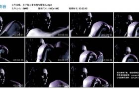 高清实拍视频丨女子练习拳击特写慢镜头