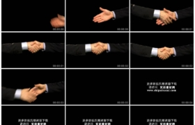高清实拍视频素材丨特写黑色背景前两个人握手