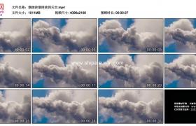 4K实拍视频素材丨烟囱浓烟排放到天空