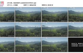 4K实拍视频素材丨航拍四面环山盆地里的农田和村庄