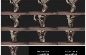 4K实拍视频素材丨特写芭蕾舞演员穿上舞鞋
