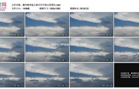 高清实拍视频素材丨暴风雨来临之前天空中的云层变化延时摄影