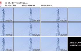 4K视频素材丨晴空下伫立的高压线架