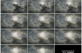 高清实拍视频素材丨天空中阳光照射着乌云流动