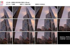 高清实拍视频素材丨摇摄晴天黄昏香港中国银行大厦