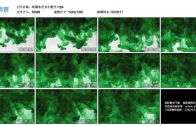 高清实拍视频素材丨绿色墨水在水中散开