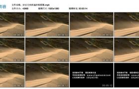 高清实拍视频素材丨沙丘大风吹起沙粒四散