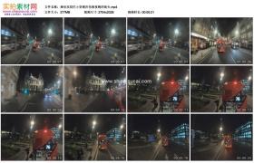 高清实拍视频素材丨乘坐双层巴士穿梭在伦敦夜晚的街头
