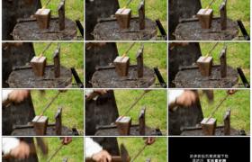 高清实拍视频素材丨特写传统铁匠用锤子锻造铁器