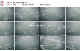 高清动态视频素材丨旋转的网络化数字背景