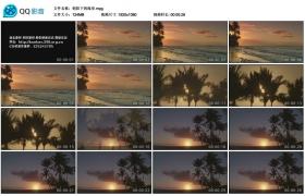 [高清实拍素材]朝阳下的海岸