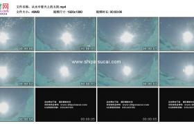 高清实拍视频素材丨从水中看天上的太阳