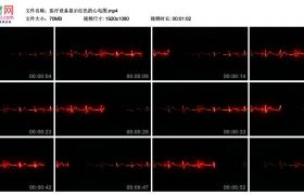 高清实拍视频丨医疗设备显示红色的心电图