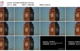 高清实拍视频素材丨特写夕阳映照着的英国伦敦大本钟