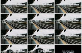 4K实拍视频素材丨火车到达美国纽约火车站