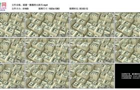 高清实拍视频素材丨摇摄一摞摞美元纸币