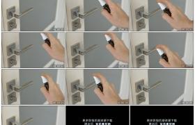 4K实拍视频素材丨特写给门把喷上消毒水
