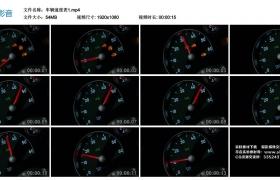 高清实拍视频丨车辆速度表1