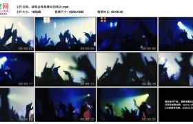 高清实拍视频丨演唱会现场舞动的观众