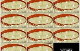 高清实拍视频素材丨特写在室内篮球场投篮入篮框