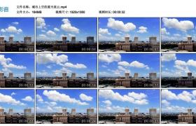高清实拍视频丨城市上空的蓝天流云