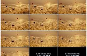 4K实拍视频素材丨水面上小小的纸船随着波浪漂向远方