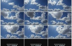 高清实拍视频素材丨阳光照射着蓝色天空中白色的云朵飘动延时摄影