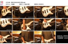 高清实拍视频丨摇滚乐队演出前进行排练