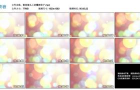 高清动态视频丨散焦镜头上的耀斑粒子