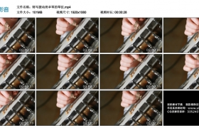 高清实拍视频丨特写拨动班卓琴的琴弦
