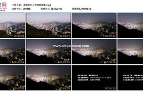 4K实拍视频素材丨中国香港的日与夜延时摄影