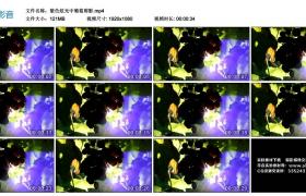 高清实拍视频丨紫色炫光中葡萄剪影