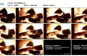 高清实拍视频丨柴火熊熊燃烧