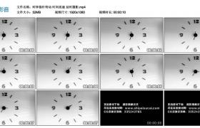 高清实拍视频丨时钟指针转动 时间流逝 延时摄影