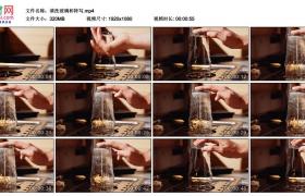 高清实拍视频丨清洗玻璃杯特写