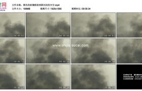 高清实拍视频素材丨黑色的浓烟排放到阴沉沉的天空