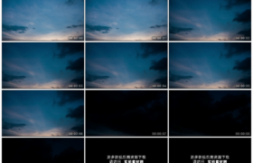 高清实拍视频素材丨天空变暗黑夜来临