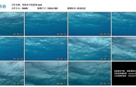 高清实拍视频素材丨仰拍水中的波浪
