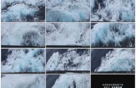 高清实拍视频素材丨轮船驶过激起白色的巨浪