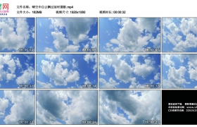 高清实拍视频丨晴空中白云飘过延时摄影