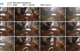 高清实拍视频丨慢镜头拍摄女子做背部按摩