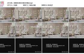 高清实拍视频素材丨摇摄酒店摆好餐具的餐桌