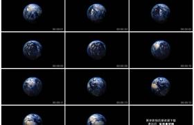 高清实拍视频素材丨黑色背景上地球转动