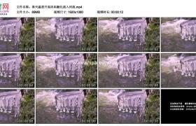 高清实拍视频素材丨春天温度升高冰块融化流入河流