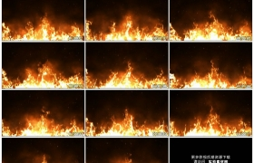 高清实拍视频素材丨橙色的火焰燃烧火苗升腾