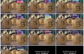 高清实拍视频素材丨比特币数字货币股市曲线