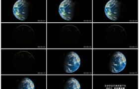 4K实拍视频素材丨地球转动地球上的日与夜