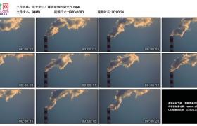 高清实拍视频丨逆光中工厂排放浓烟污染空气