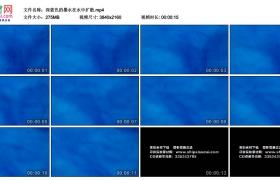 4K实拍视频素材丨深蓝色的墨水在水中扩散